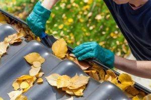 autumn gutter cleaning